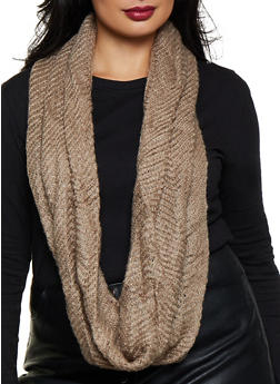 Solid Knit Infinity Scarf - 3125067440088