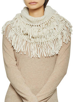 Perforated Knit Infinity Scarf - 3125067440701