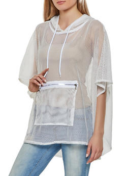 Hooded Fishnet Poncho - 3125067442509