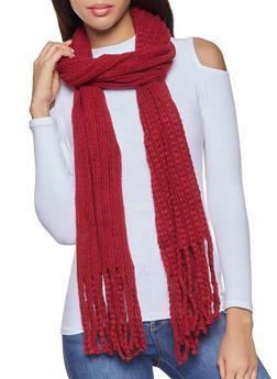 Long Knit Scarf - 3125067443804