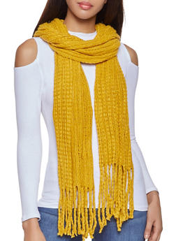 Long Knit Scarf - 3125067443804