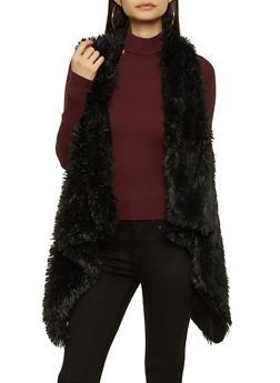 Shaggy Faux Fur Vest - 3125067443811
