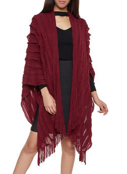 Pleated Knit Shawl - 3125067443812