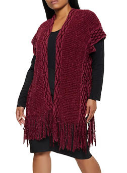 Fringe Chenille Kimono - 3125067443910