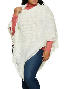Sequin Knit Poncho - 3125067443912