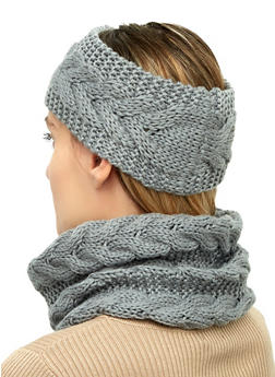 Knit Snood and Head Wrap - 3125067444933