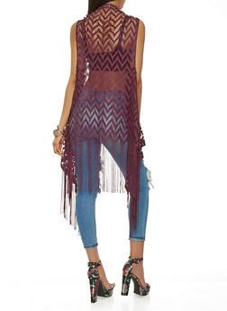 Crochet Fringe Vest - 3125067448068