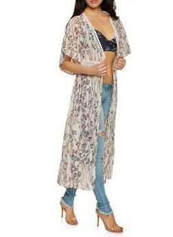Floral Crochet Insert Duster - 3125067449013