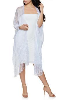 Lurex Knit Kimono - 3125067449034