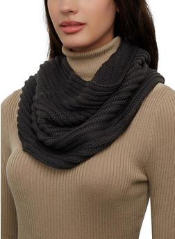 Rib Knit Infinity Scarf - 3125071211801