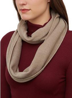 Glitter Knit Infinity Scarf - 3125071211802