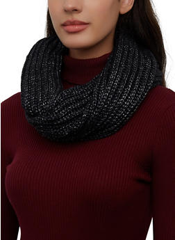 Ribbed Knit Infinity Scarf - 3125071218015