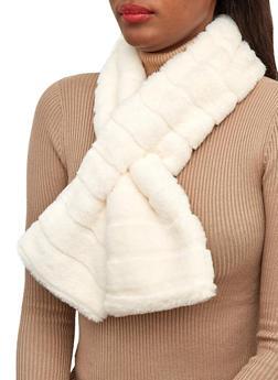 Faux Fur Pull Through Scarf - 3125074392234