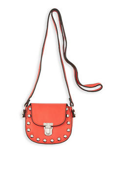 Studded Mini Saddle Crossbody Bag - 3126040327841