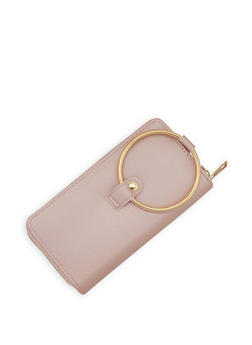 Double Zip Faux Leather Wallet - 3126061593033