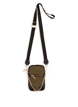 Quilted Chain Detail Crossbody Bag - 3126061597851