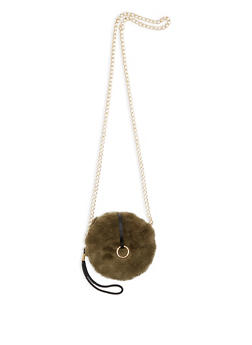 Faux Fur Crossbody Bag - 3126067441108