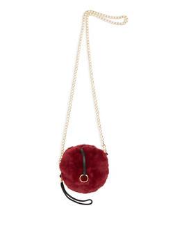 Faux Fur Crossbody Bag - 3126067441108