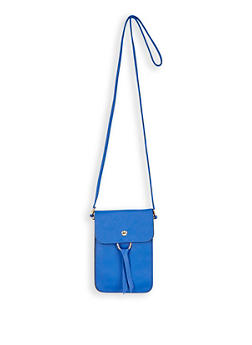 Faux Leather Crossbody Bag - 3126067441559