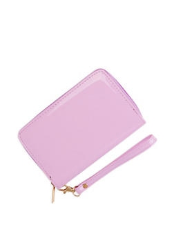 Faux Patent Leather Wristlet - 3126067441707