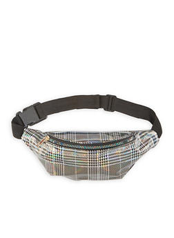 Holographic Plaid Fanny Pack - 3126067441847