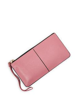 Faux Leather Zip Wallet - 3126067442208
