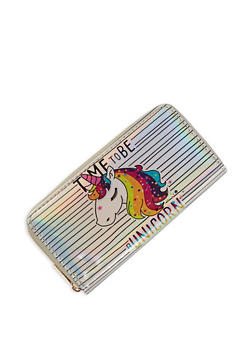 Rainbow Unicorn Graphic Wallet - 3126067445308