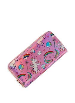 Rainbow Unicorn Graphic Wallet - 3126067445308
