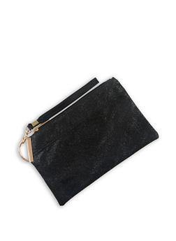 Textured Faux Leather Wristlet | 3126067445990 - 3126067445990
