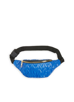 Quilted Faux Leather Fanny Pack - 3126067446408