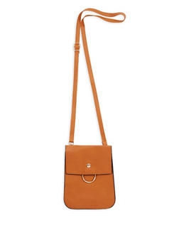 Faux Leather Cell Phone Crossbody Bag - 3126067447042