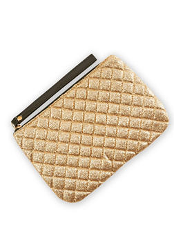 Quilted Glitter Wristlet - 3126067447066