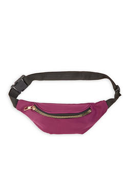 Nylon Fanny Pack - PURPLE - 3126067448007