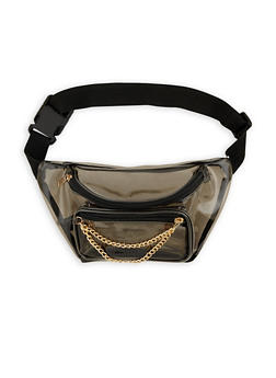 Colored Plastic Chain Fanny Pack - 3126067448014