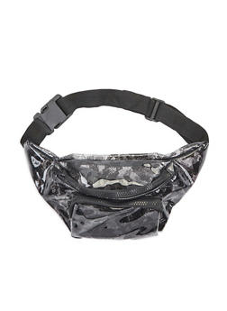 Clear Lace Print Fanny Pack - 3126067448021
