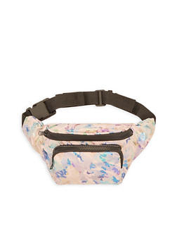 Foil Screen Double Zip Fanny Pack - 3126067448024