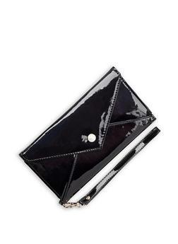 Faux Leather Envelope Wallet - 3126067448040