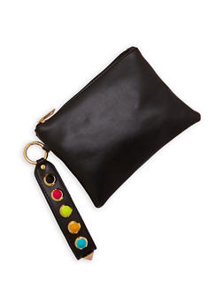 Multi Color Studded Strap Clutch - 3126067448046