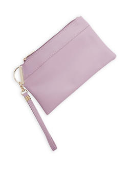 Faux Leather Wristlet - 3126067448048