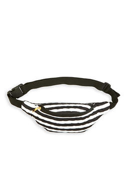 Striped Quilted Fanny Pack - 3126067448055