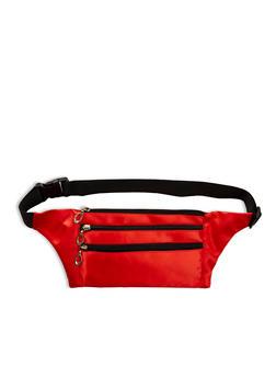 Zipper Detail Nylon Fanny Pack - 3126067448060