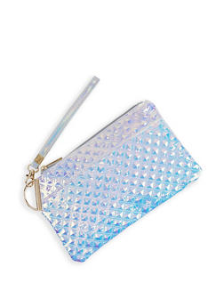Iridescent Embossed Clutch - 3126067448065