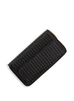 Faux Leather Zip Around Wallet | 3126067448202 - 3126067448202