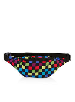 Zip Checkered Fanny Pack - 3126067448220