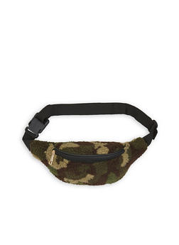 Printed Fuzzy Fanny Pack - 3126067448477