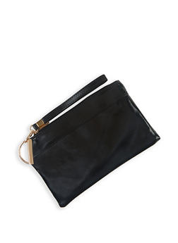 Faux Leather Wristlet | 3126067448844 - 3126067448844