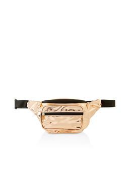 Glitter Double Zip Fanny Pack - 3126067449013