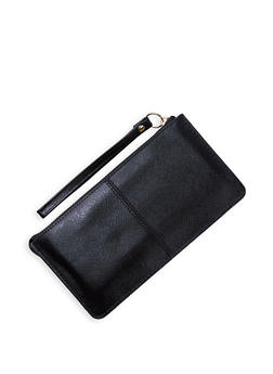 Textured Faux Leather Wristlet | 3126067449029 - 3126067449029