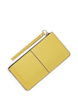 Textured Faux Leather Wristlet | 3126067449029 - 3126067449029
