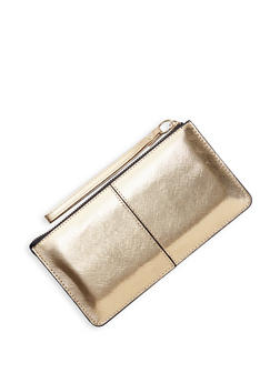 Textured Faux Leather Wristlet | 3126067449029 - Gold - 3126067449029